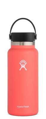 HYDRO FLASK 32 OZ WIDE MOUTH WITH FLEX CAP HIBISCUS 2.0