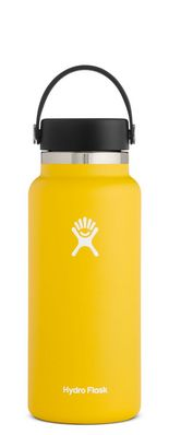 HYDRO FLASK 32 OZ WIDE MOUTH WITH FLEX CAP SUNFLOWER 2.0