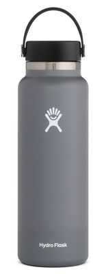 HYDRO FLASK 40 OZ WIDE MOUTH WITH FLEX CAP STONE 2.0