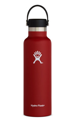 HYDRO FLASK 21 OZ STANDARD MOUTH WITH STANDARD FLEX CAP LYCHEE RED