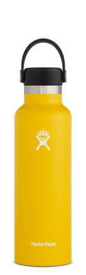 HYDRO FLASK 21 OZ STANDARD MOUTH WITH STANDARD FLEX CAP SUNFLOWER