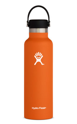 HYDRO FLASK 21 OZ STANDARD MOUTH WITH STANDARD FLEX CAP ORANGE ZEST
