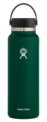 HYDRO FLASK 40 OZ WIDE MOUTH WITH FLEX CAP SAGE 2.0