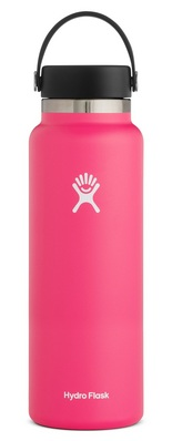 HYDRO FLASK 40 OZ WIDE MOUTH WITH FLEX CAP WATERMELON 2.0