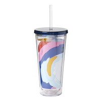 Paint the Town Tumbler With Straw