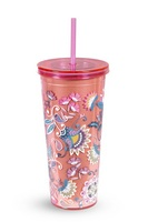 Double Walled Tumbler, Blush Flowers