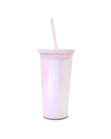 SIP SIP TUMBLER WITH STRAW, PEARLESCENT