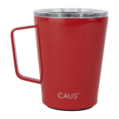 Caus 12oz Coffee Tumbler with Handle Red
