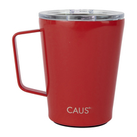 Caus 12oz Coffee Tumbler w Handle Red