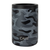 Caus 11oz Can Cooler Black Camo