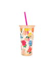 BANDO SIP SIP TUMBLER WITH STRAW, COMING UP ROSES