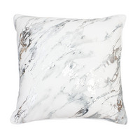 Dormify Maddie Marble 20X20 Gray Silver Reversible Pillow