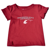 College Kids Toddler Ruffle Tee