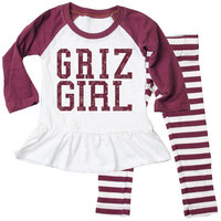 Wes & Willy Toddler Girls Stripe Top Set