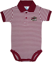 Creative Knitwear Striped Infant Polo Bodysuit