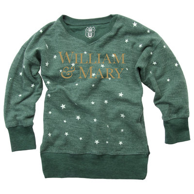 Wes & Willy Toddler Girls Star Print Reversed Sweatshirt