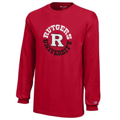 Rutgers Scarlet Knights Champion Youth Long Sleeve T-Shirt