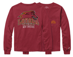 League Kids Long Sleeve Pocket Tee