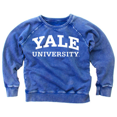 Wes & Willy Youth Long Sleeve Faded Wash Fleece Top