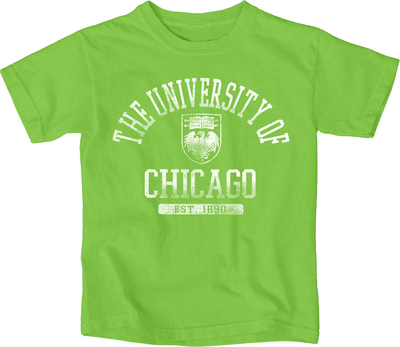 72392bc85953 University of Chicago Bookstore - Blue 84 Toddler Garment Dyed Shirt