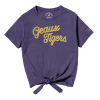League Girls Tie Front Tee