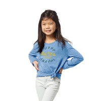 League Girls Triblend Side Tie Tee