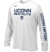 Nike UConn Youth Long Sleeve Mentality Tee