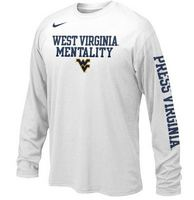 Nike WVU Youth Long Sleeve Mentality Tee