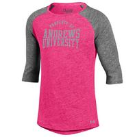Under Armour Youth Girl Tri Blend Baseball T Shirt