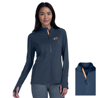 Levelwear Womens Slant Text Alyssa Full Zip Jacket