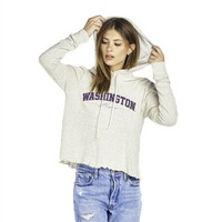 Brushed Natural Cropped Hoodie