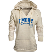 Blue 84 Striped French Terry V Neck Hood