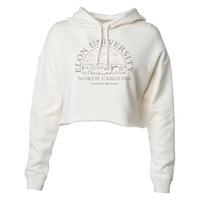 Womens Lightweight Flowy Fleece Crop Hoodie