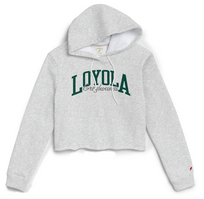 League Womens 1636 Cropped Hoodie Sweatshirt