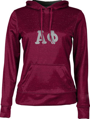 Alpha Phi Womens Pullover Hoodie Heather