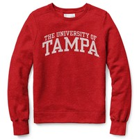 Womens Red Shirt Classic Crew Neck Sweatshirt