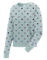 Champion Womens All Over Print Reverse Weave Crewneck