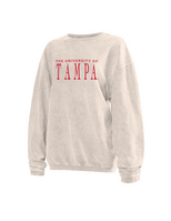 Chicka d Womens CordedCrewneckLong Sleeve Sweatshirt