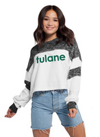 Womens Cozy Fleece Colorblock Pullover