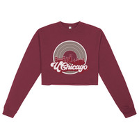 Uscape Womens Oversized Crop Crew