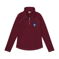 Step Forward Apparel Contrast Stitch Bandless Quarter Zip