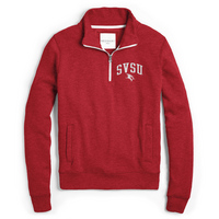 Red Shirt Womens Fleece Quarter Zip