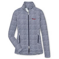 Peter Millar Linen Print Lauren Full Zip Stretch Terry Layer