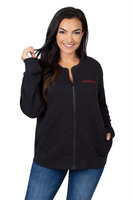 University Girls Womens Quilted Zip Up Jacket