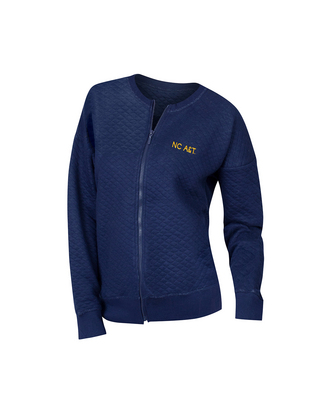 Womens Quilted Zip Up Jacket