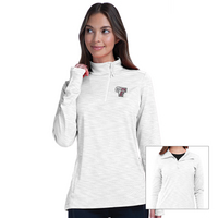 Levelwear Womens Insignia Wave Quarter Zip Sweatshirt