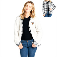 Reversible Sherpa Plaid Top