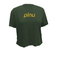 Retro Brand Slub Crop T Shirt