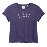 League Clothesline Cotton Ruffle T Shirt