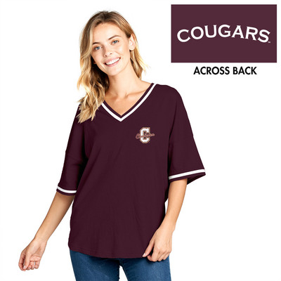 factory price 35c5b 5a73d Short Sleeve Contrast V Neck Spirit Jersey | The College of ...